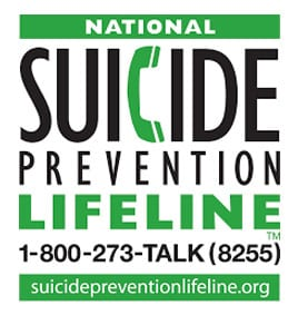 Suicide Prevention Lifeline - 1-800-273-8255