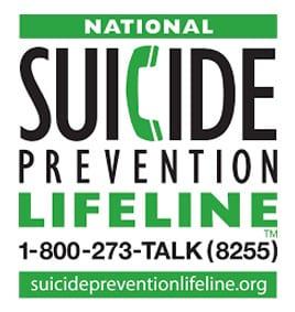 Suicide Prevention Lifeline - 1-800-273-8255