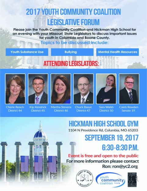 2017 Youth Community Coalition Legislative Forum @ Hickman High School Gym